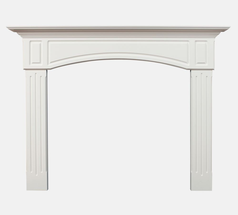 York Mantel Kit Painted White 72 Inch Wide x 54 Inch High