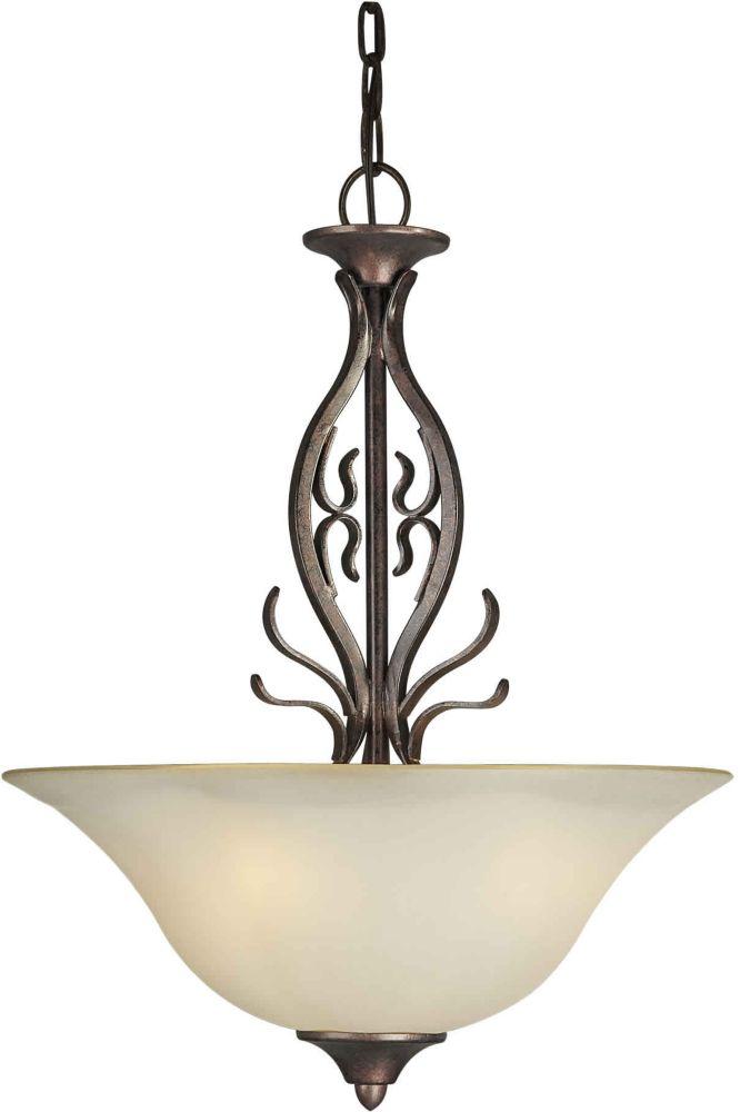 Burton-Light Ceiling Black Cherry Pendant