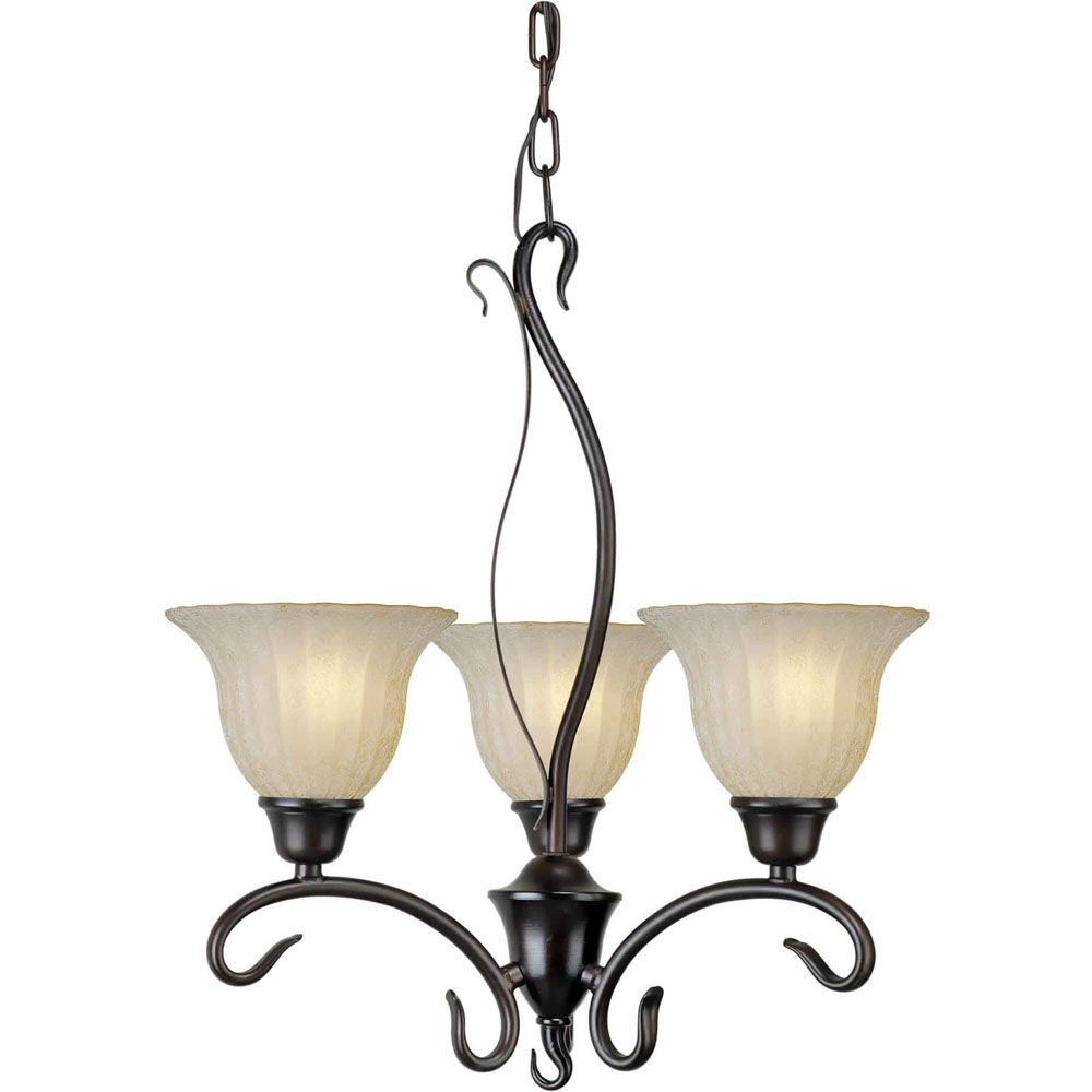Burton 3-Light Ceiling Antique Bronze Chandelier