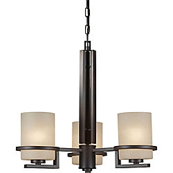 Filament Design Burton 3-Light Ceiling Antique Bronze Chandelier