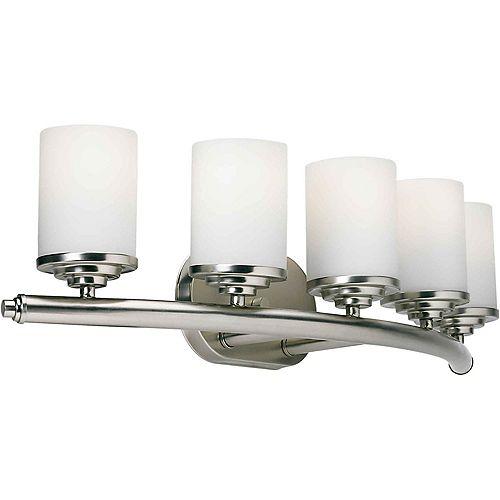 Filament Design Burton 5-Light Brushed Nickel Bath Vanity Light Fixture