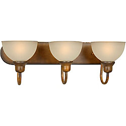 Filament Design Burton 3-Light Wall Rustic Sienna Bath Vanity