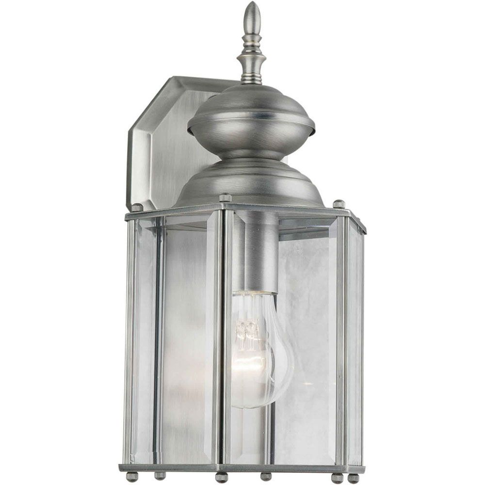 Burton 1-Light Lode Nickel Outdoor Wall-Light