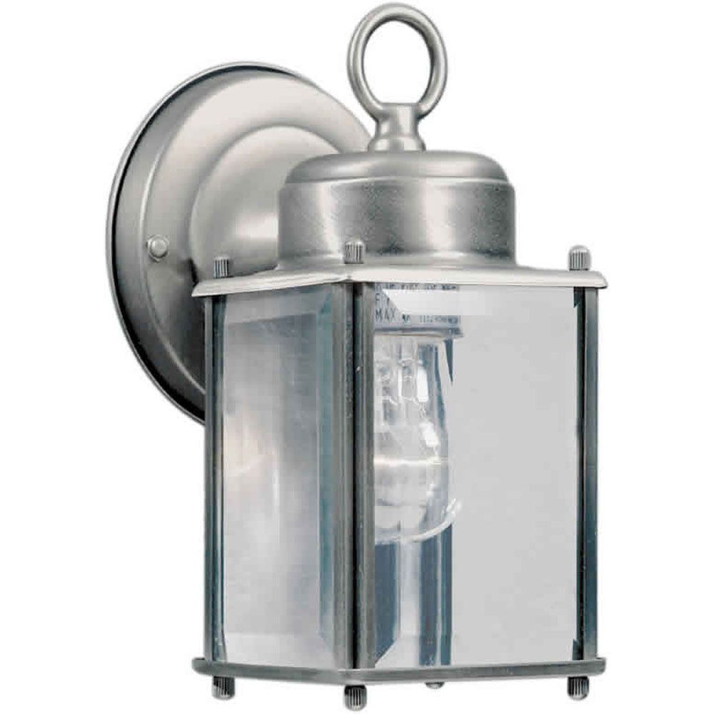Burton 1 Light Olde Nickel Outdoor Incandescent Wall Light CLI-FRT10050154 in Canada