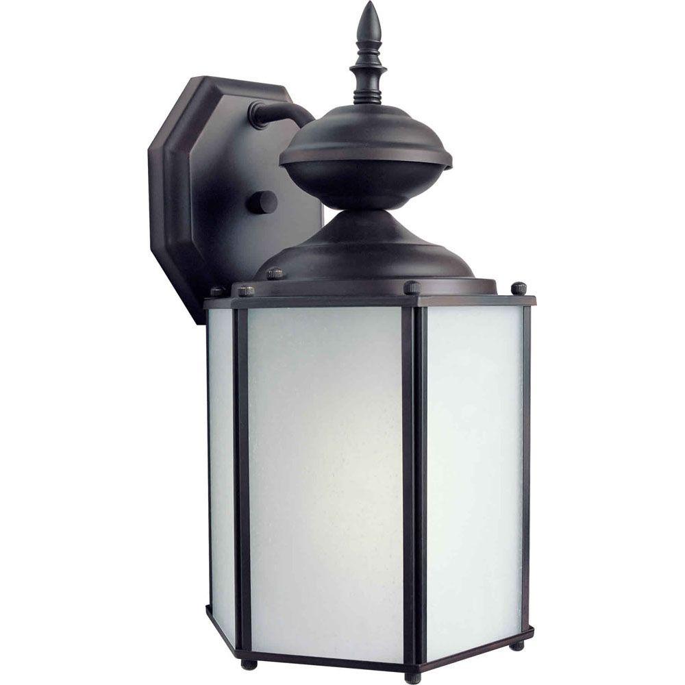 Burton 1 Light Antique Bronze  Outdoor Compact Fluorescent Lighting Wall Light
