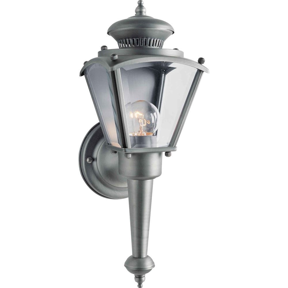 Burton 1 Light Olde Nickel  Outdoor Incandescent Wall Light