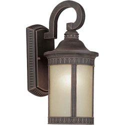 Filament Design Burton 1 Light Painted Rust Outdoor Compact Fluorescent Lighting Wall Light