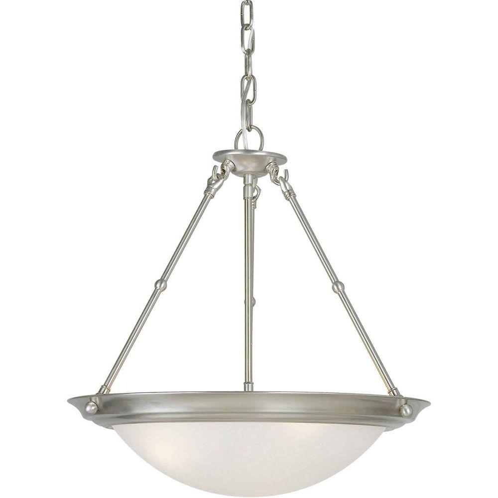 Burton-Light Ceiling Brushed Nickel Pendant