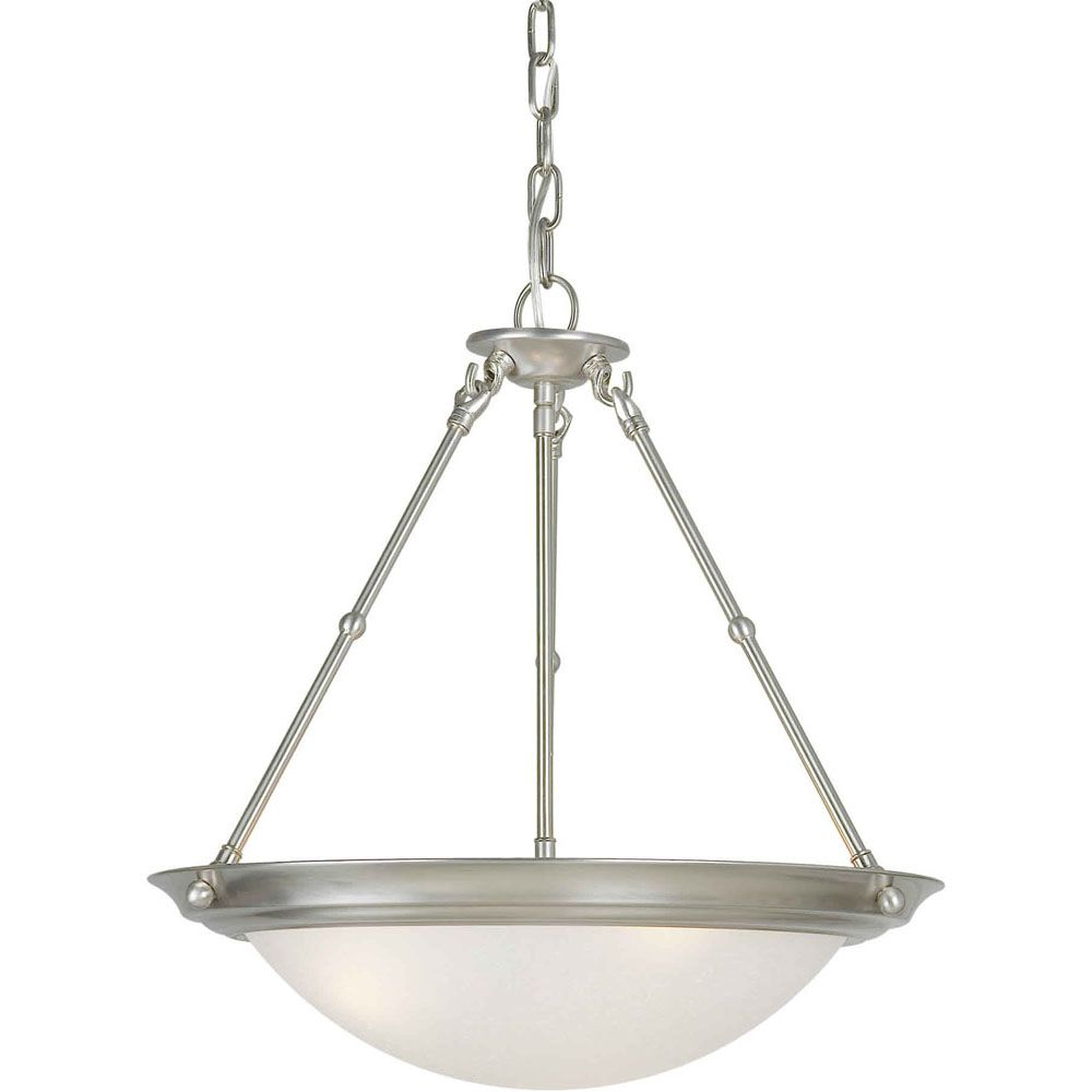 Filament Design Burton-Light Ceiling Brushed Nickel Pendant