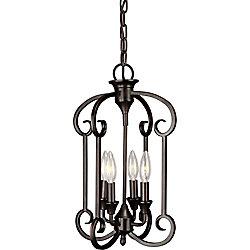 Filament Design lumière accrochante avec style couleur en bronze