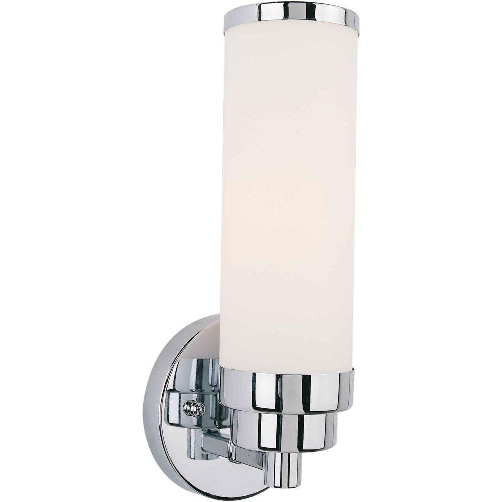 Burton 1 Light Wall Chrome  Compact Fluorescent Lighting Bath Vanity