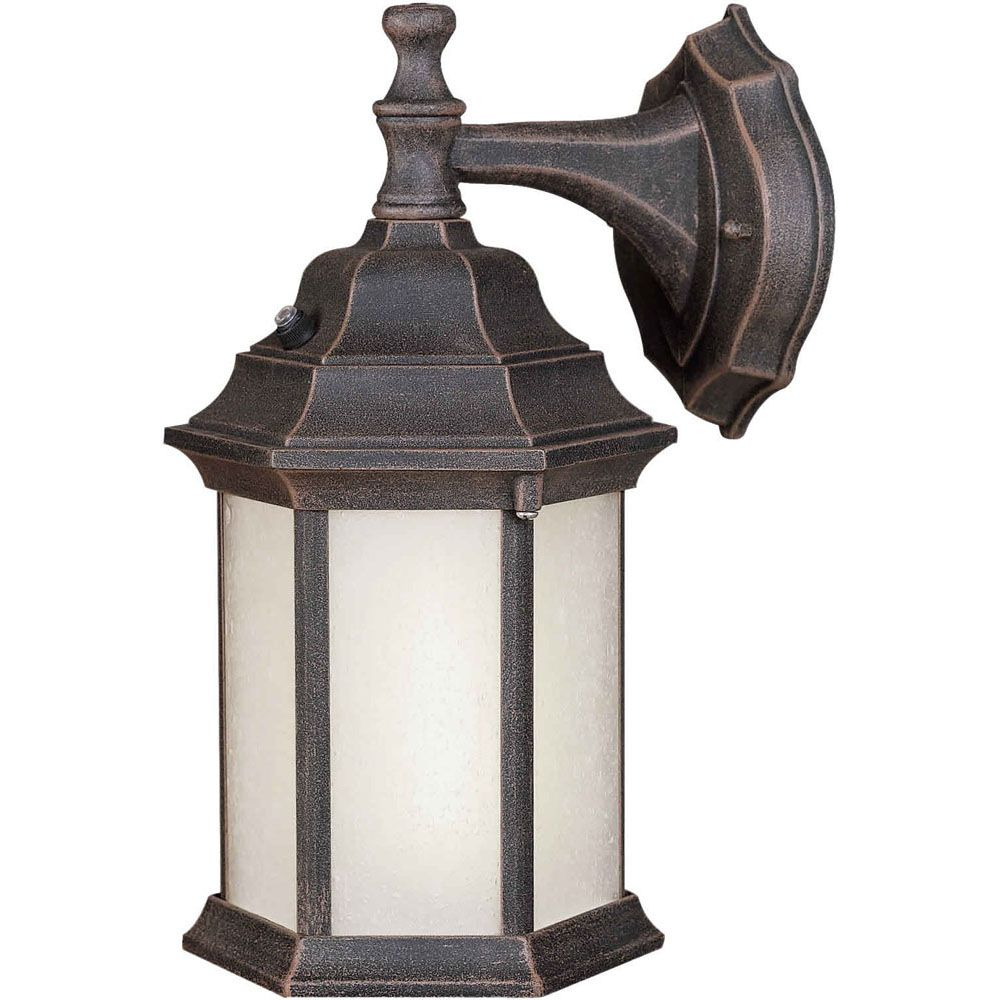 Burton 1 Light Painted Rust  Outdoor Compact Fluorescent Lighting Wall Light