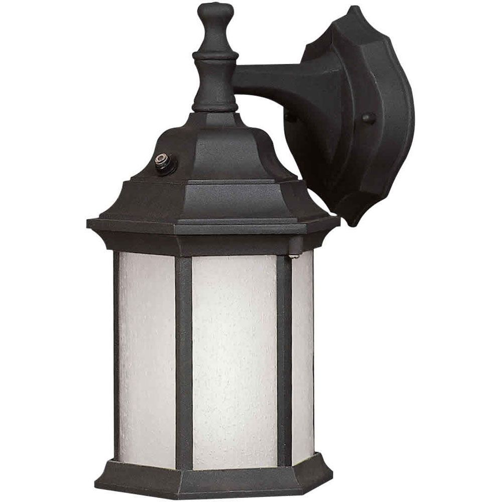 Burton 1 Light Black Outdoor Compact Fluorescent Lighting Wall Light CLI-FRT170040104 Canada Discount