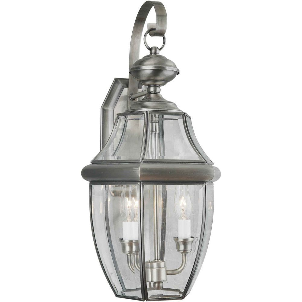 Burton 2 Light Antique Pewter  Outdoor Incandescent Wall Light