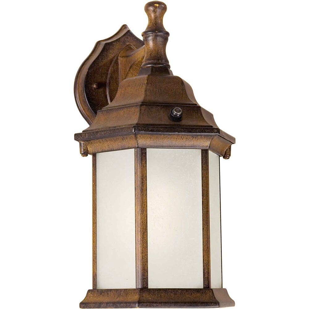 Burton 1 Light Rustic Sienna Outdoor Compact Fluorescent Lighting Wall Light CLI-FRT170040141 in Canada