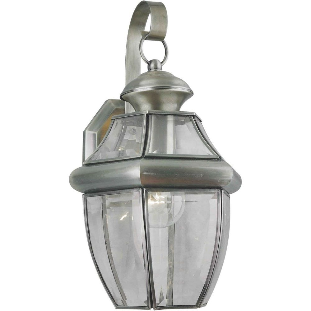 Burton 1 Light Antique Pewter  Outdoor Incandescent Wall Light