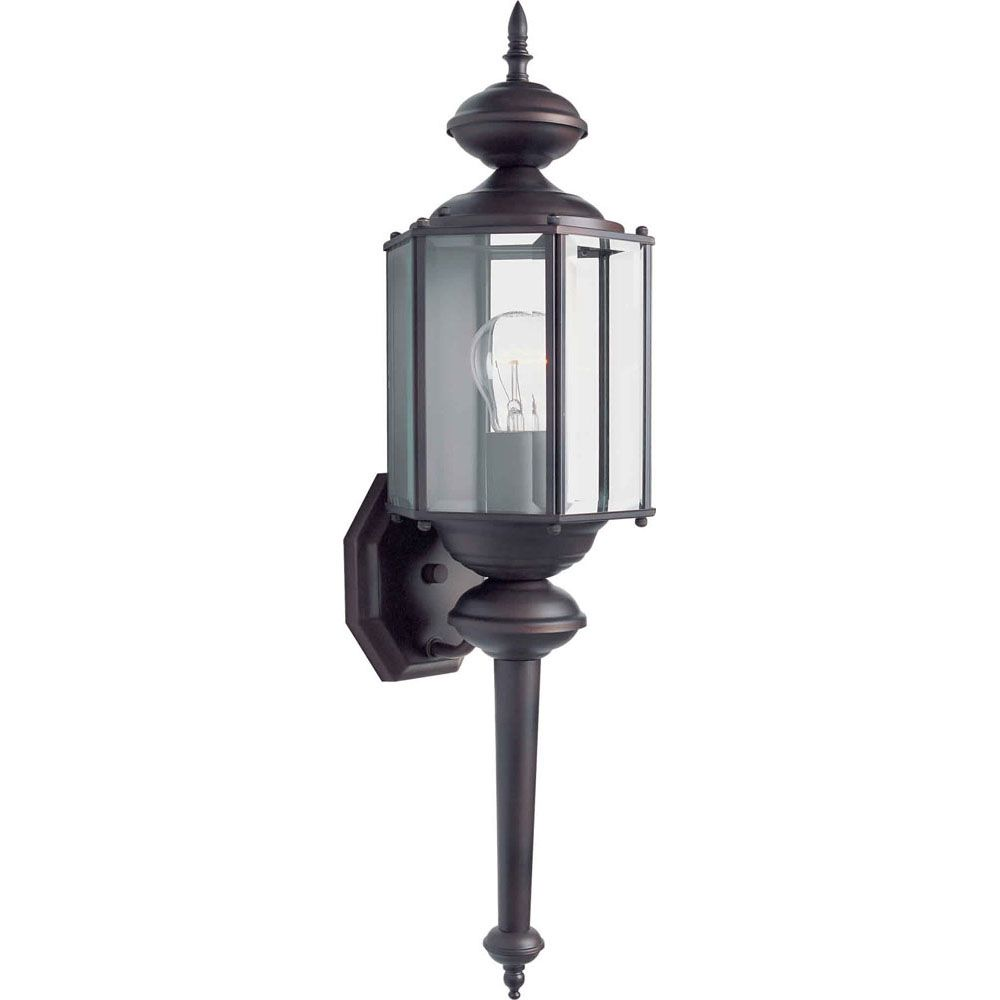 Burton 1-Light Antique Bronze Outdoor Wall-Light