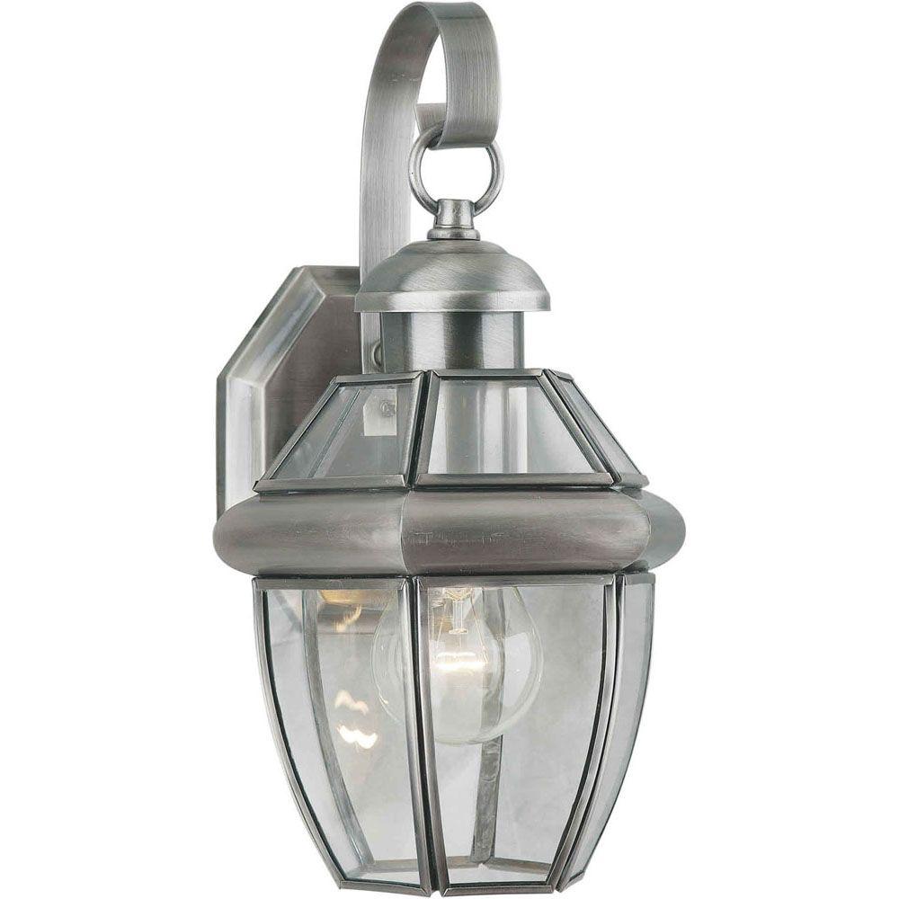 Filament design burton 1 light antique pewter outdoor for Outdoor home lighting
