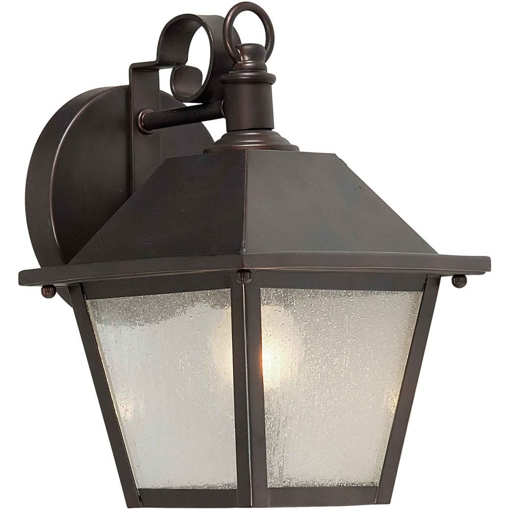 Burton 1 Light Antique Bronze Outdoor Incandescent Wall Light CLI-FRT11070132 in Canada