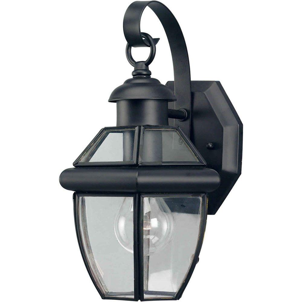 Filament Design Burton 1-Light Black Outdoor Wall-Light