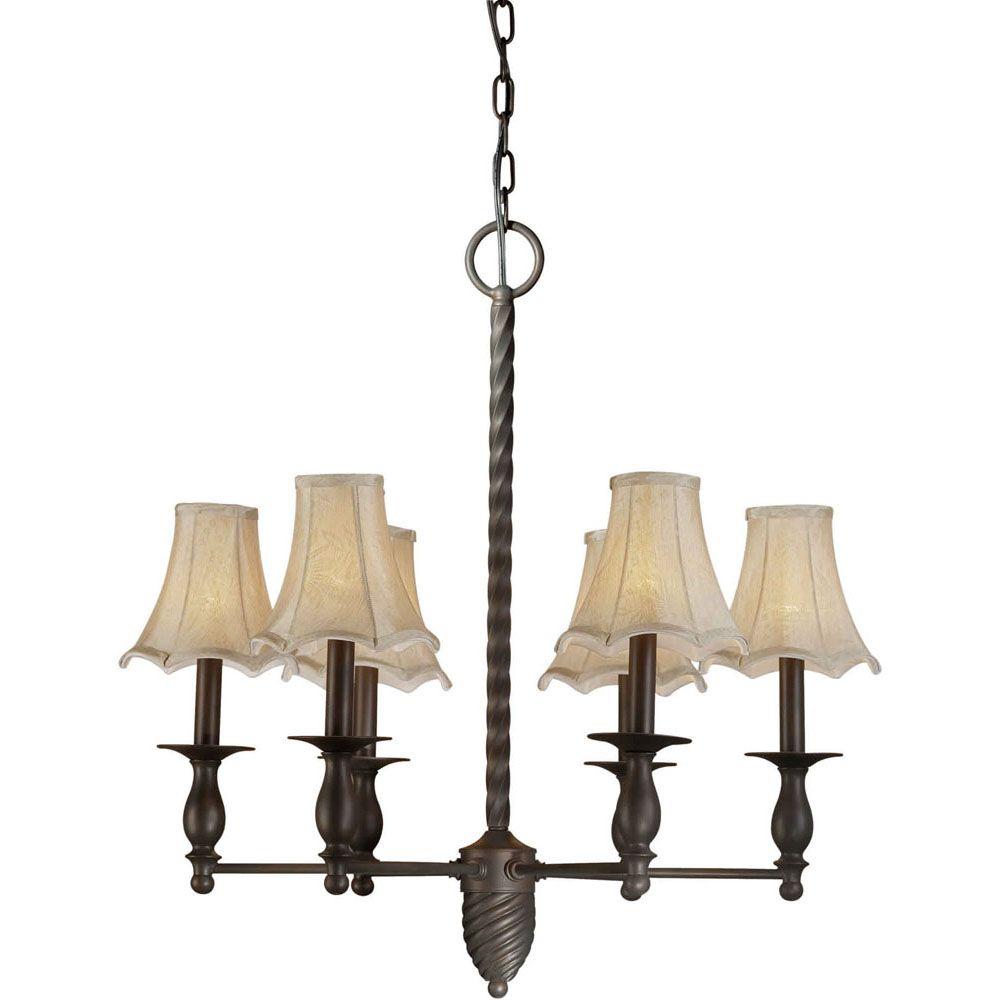 Burton 6-Light Ceiling Antique Bronze Chandelier