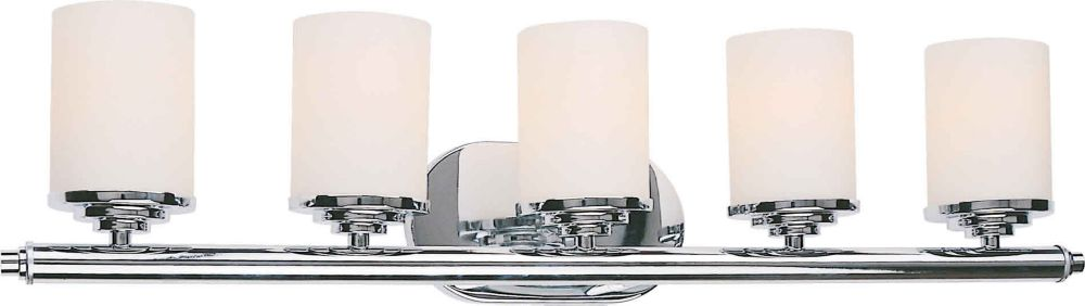Burton 5 Light Wall Chrome  Incandescent Bath Vanity