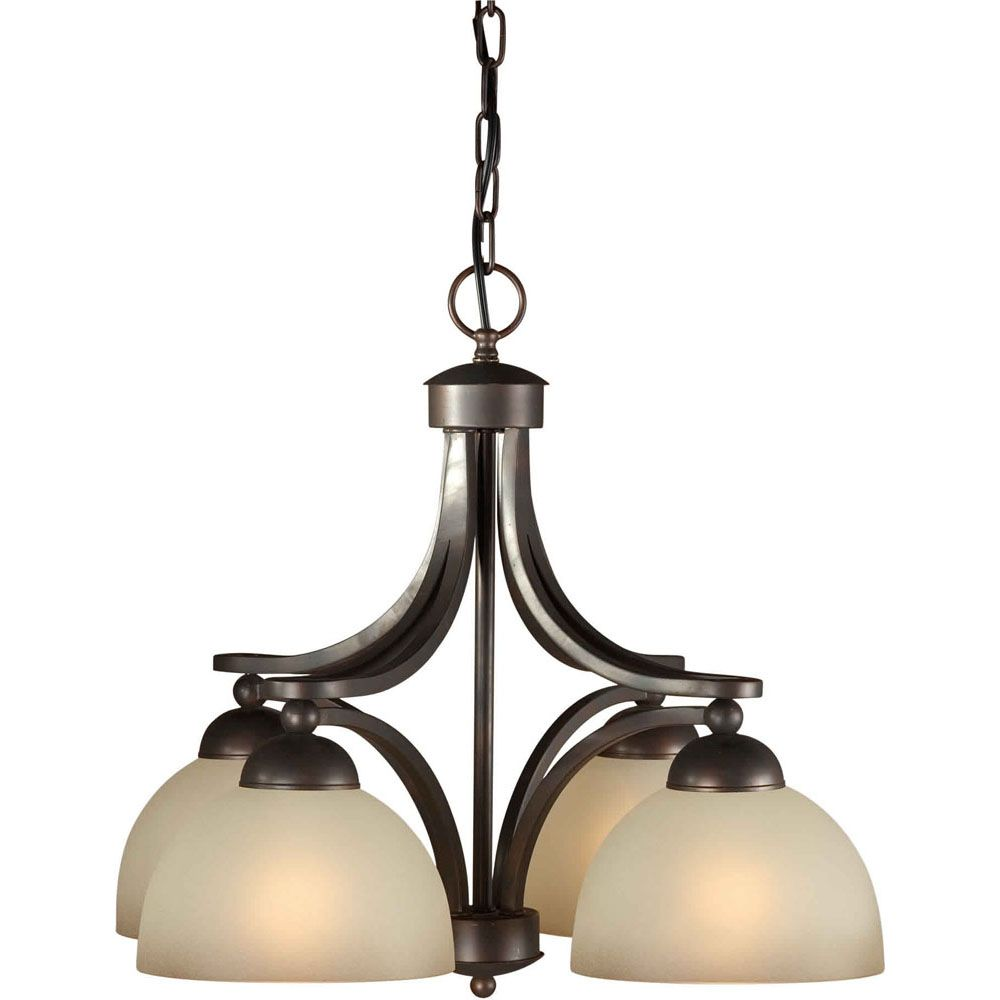 Burton 4 Light Ceiling Antique Bronze Incandescent Chandelier CLI-FRT24740432 in Canada