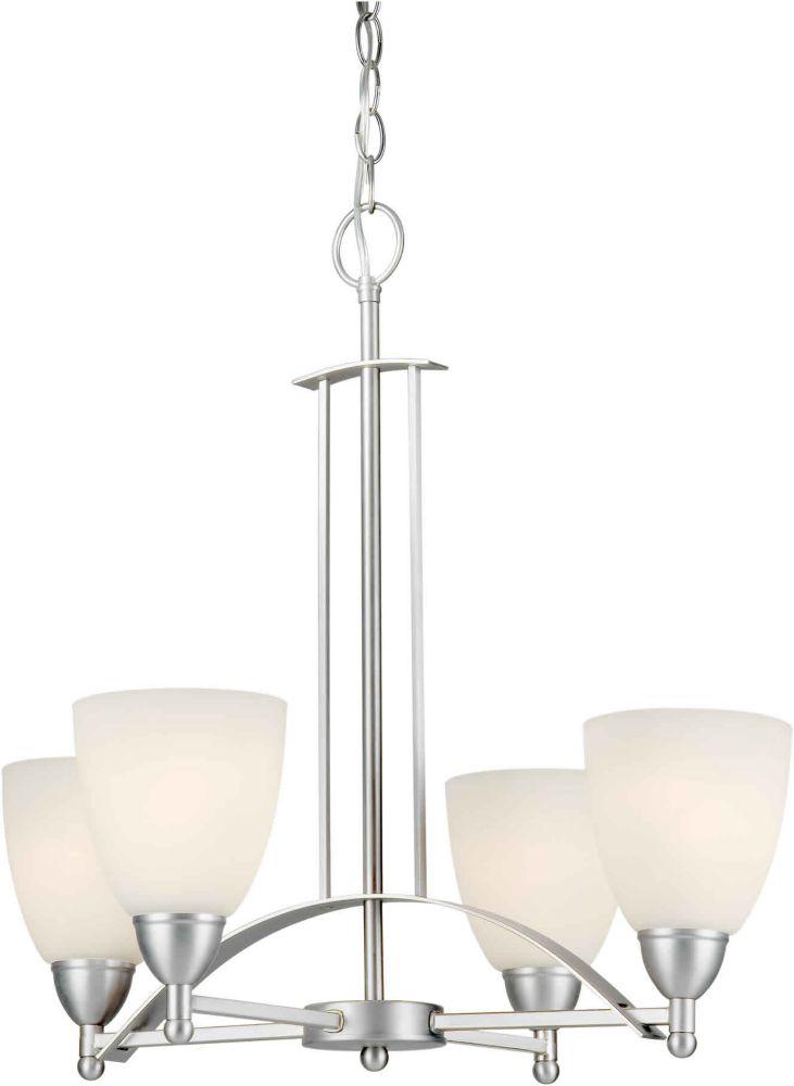 Filament Design Burton 4-Light Ceiling Brushed Nickel Chandelier