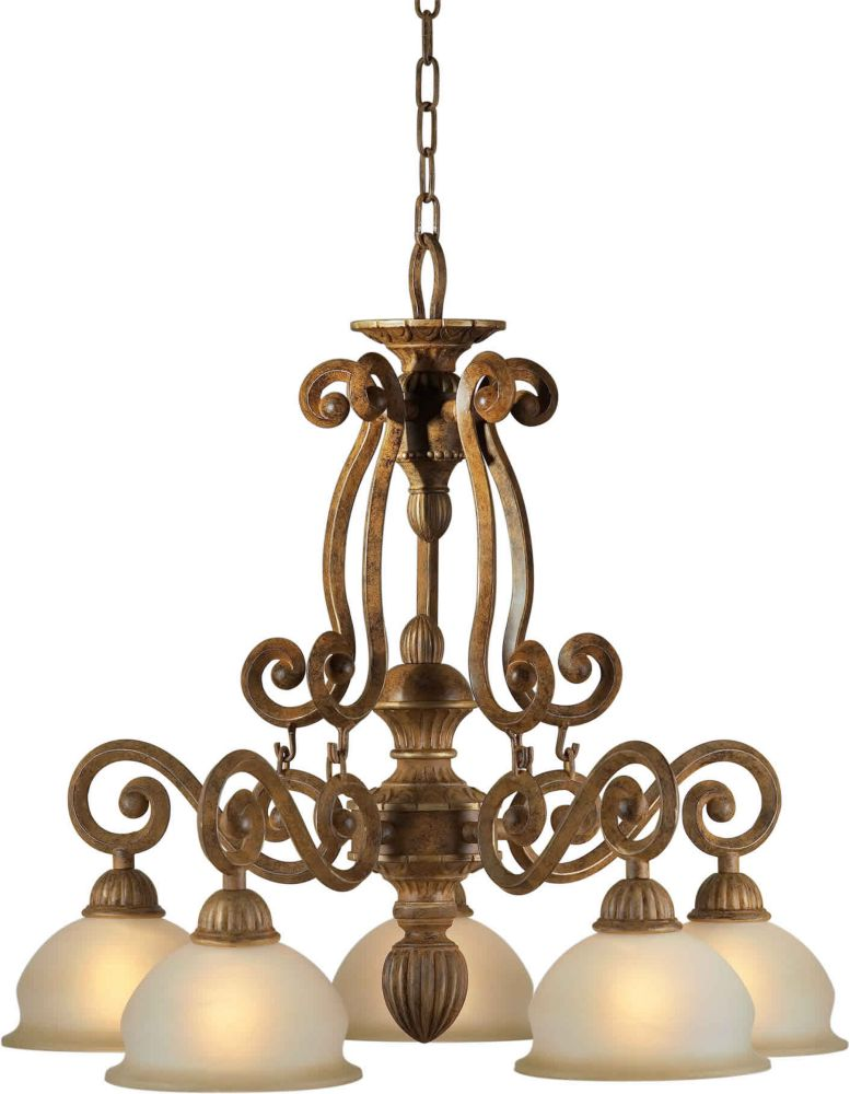 Filament Design Burton 5-Light Ceiling Chestnut Chandelier