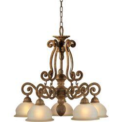 Filament Design Burton 5-Light Ceiling Chestnut Chandelier