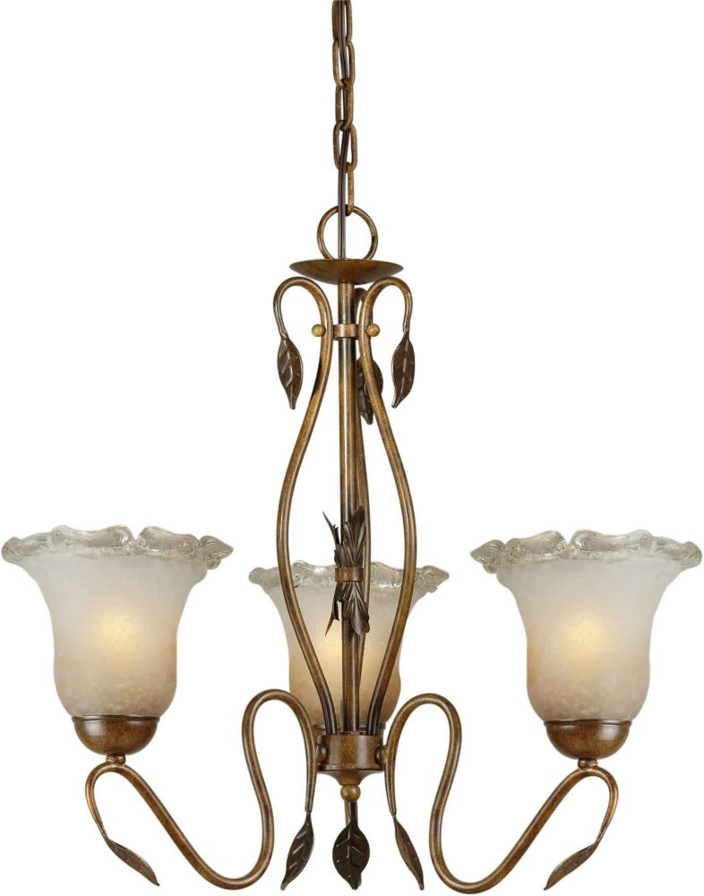Burton 3-Light Ceiling Rustic Sienna Chandelier