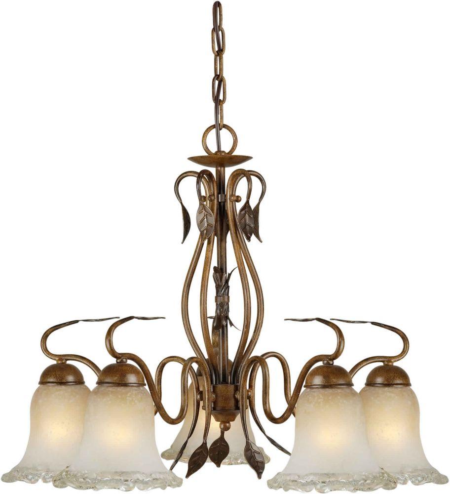 Burton 5-Light Ceiling Rustic Sienna Chandelier