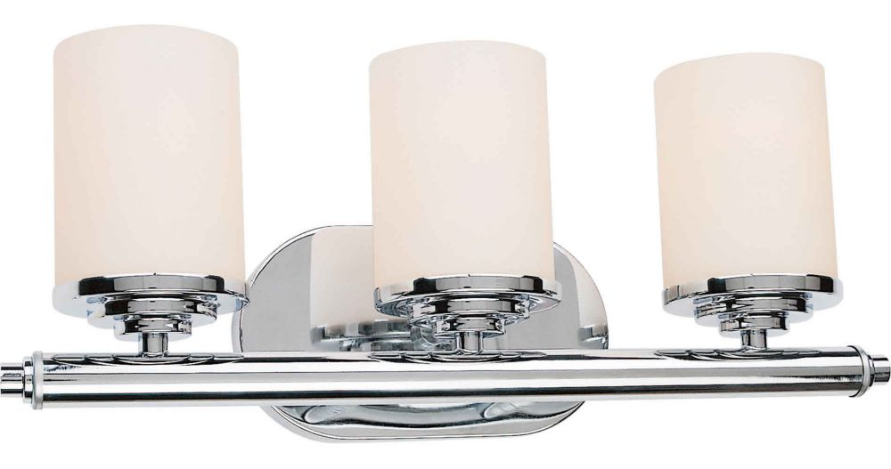 Burton 3-Light Wall Chrome Bath Vanity