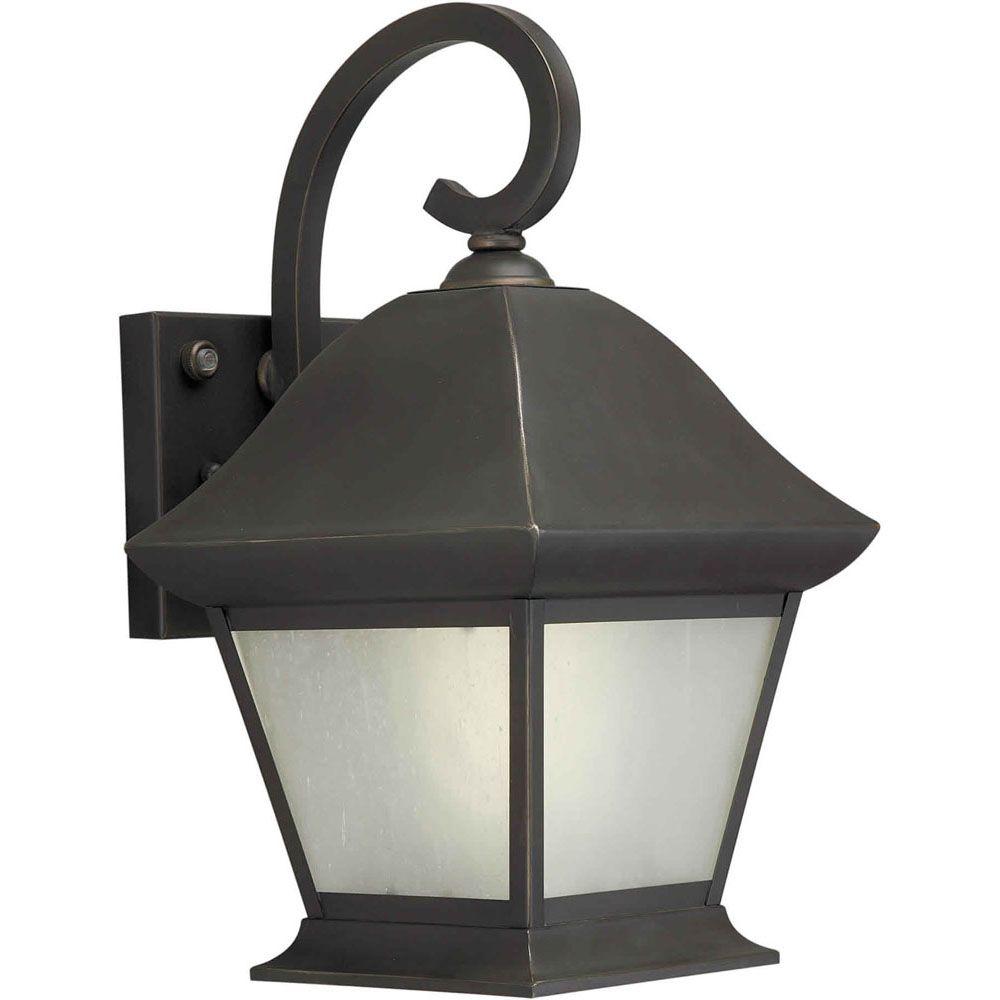 Burton 1 Light Royal Bronze  Outdoor Compact Fluorescent Lighting Wall Light