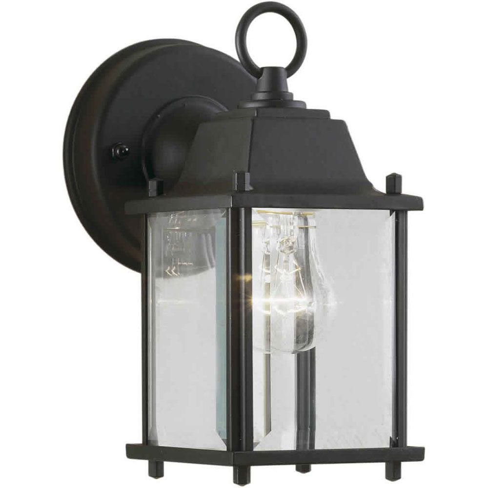 Burton 1 Light Black Outdoor Incandescent Wall Light CLI-FRT17050104 in Canada