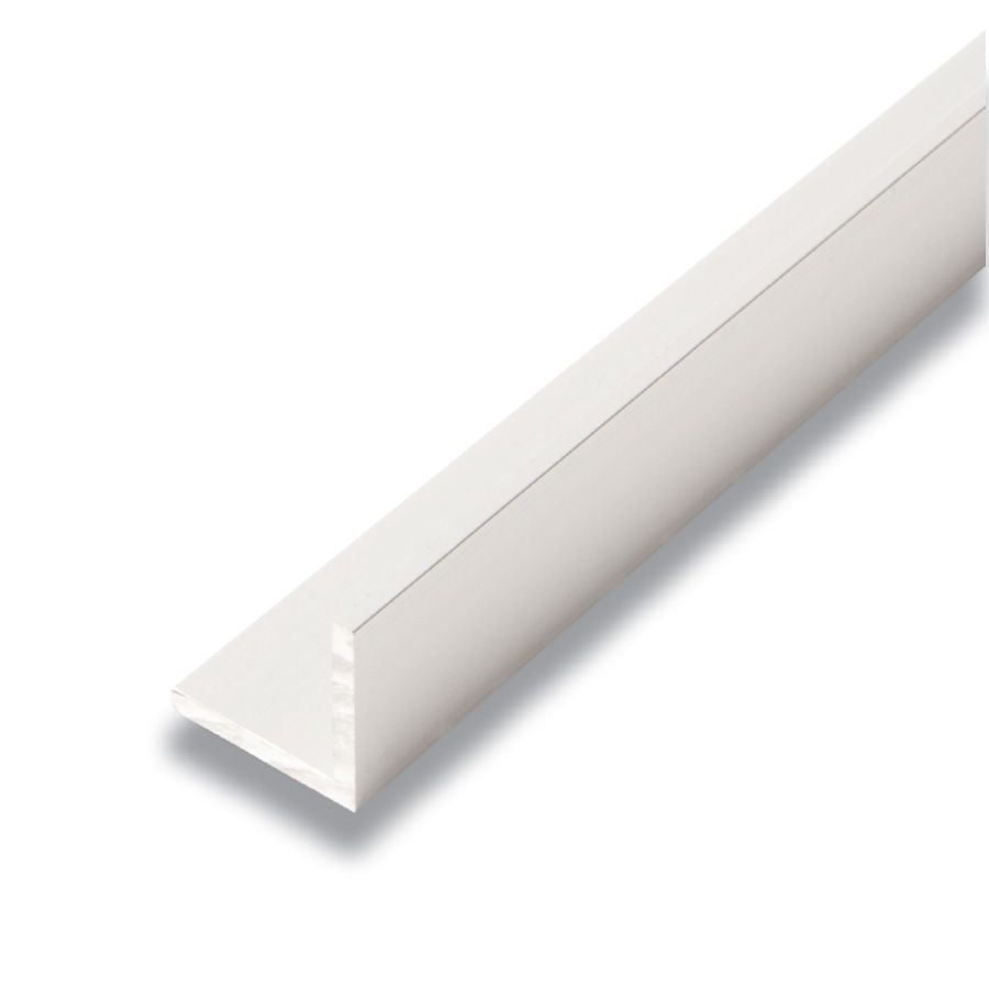 Metal Angle Satin Clear 1 In. x 1 In. x 8 Ft.