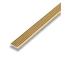 Alexandria Moulding Metal Angle Mira Gold 1/16 In. x 3/4 In. x 8 Ft.