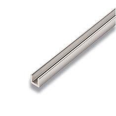 Metal U-Channel Mira Lustre 3/8-inch x 3/8-inch x 8 Ft.