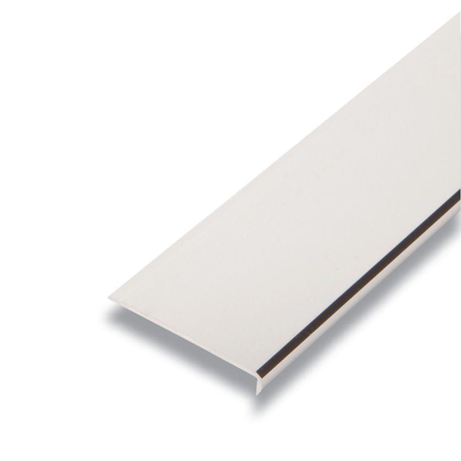 Metal Bordure Argent 1/4 po x 1-9/16 po x 8 pieds