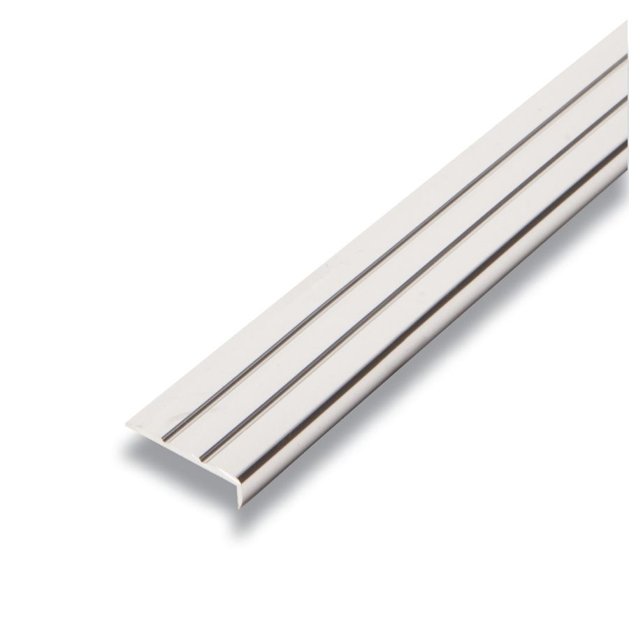Metal Bordure Argent 1/4 po x 15/16 po x 8 pied