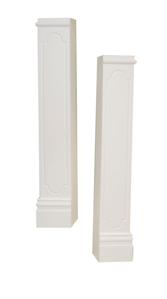 Oxford Mantel Legs CARB compliant MDF, White - Set of 2