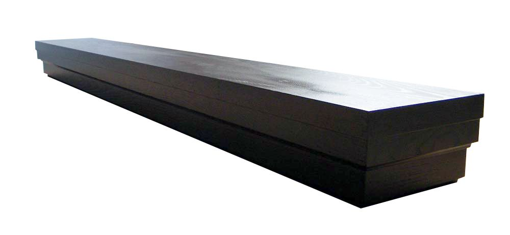 Roman 60 Inch Contemporary Mantel Shelf in Espresso Veneer
