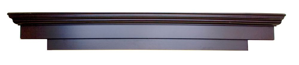 Tablette de cheminée Laurentian de 180 cm de couleur espresso (MDF conforme aux normes CARB)