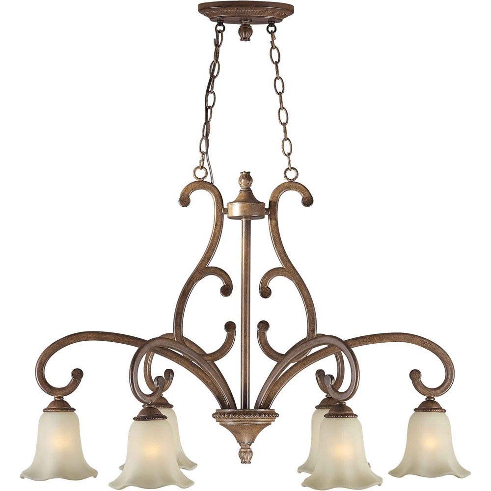 Burton 6-Light Ceiling Rustic Sienna Chandelier