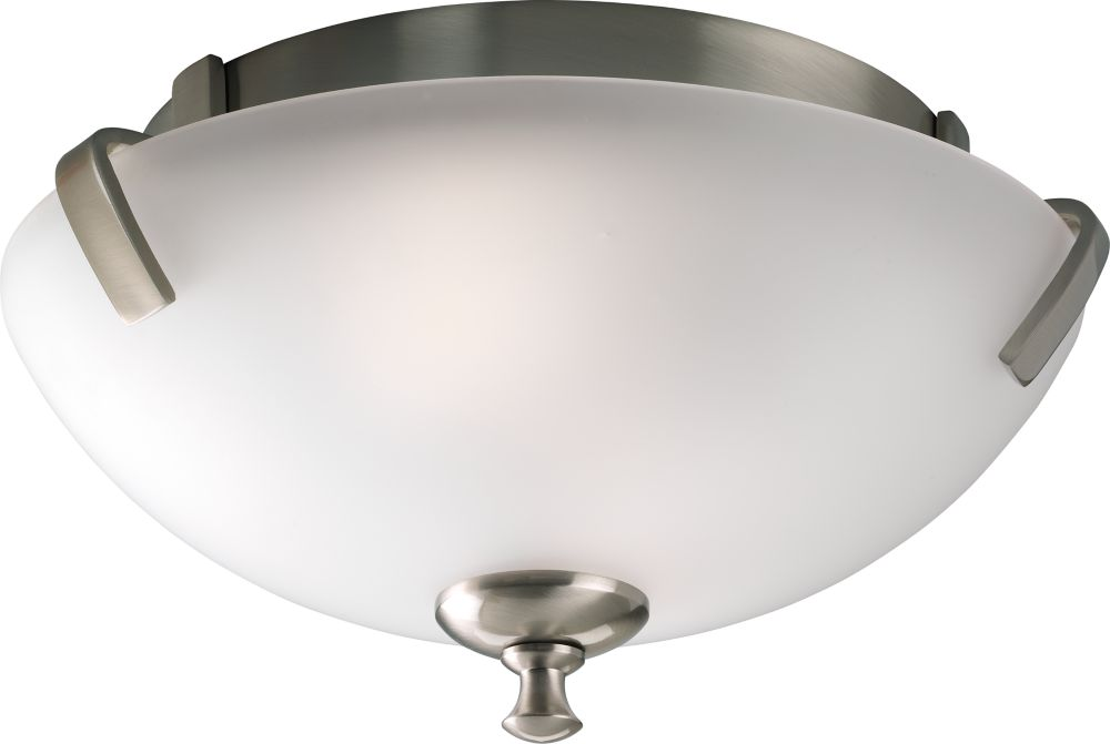 Wisten Collection Brushed Nickel 2-light Flushmount
