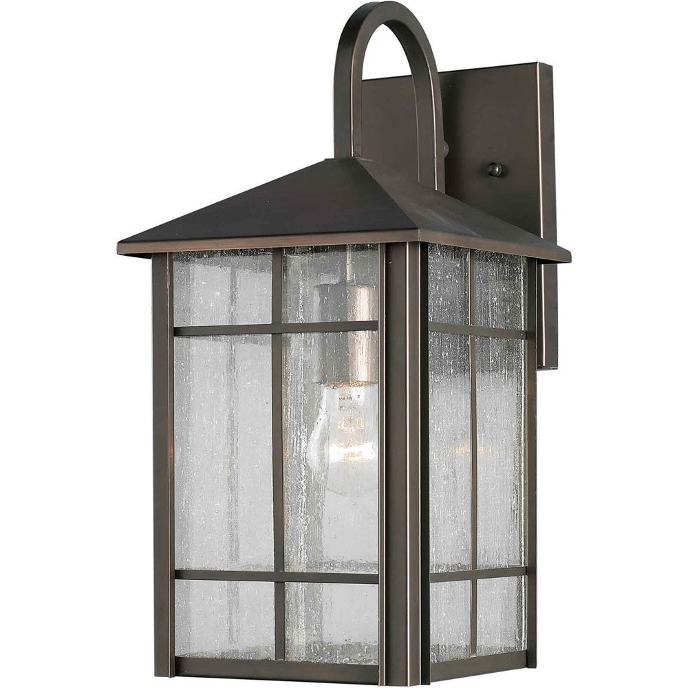 Burton 1-Light Royal Bronze Outdoor Wall-Light