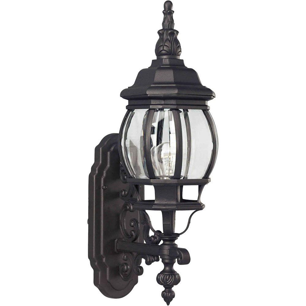 Burton 1-Light Black Outdoor Wall-Light