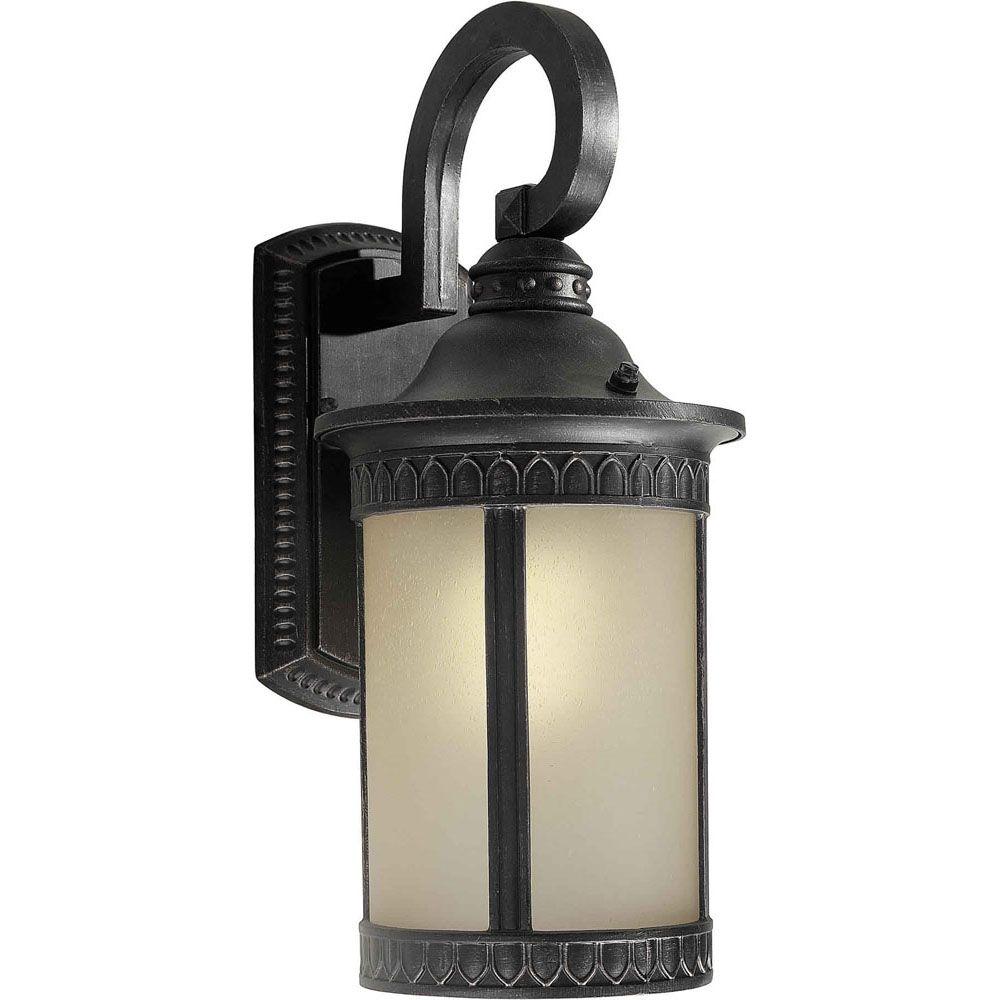 Burton 1 Light Bordeaux  Outdoor Compact Fluorescent Lighting Wall Light