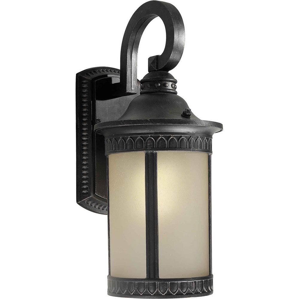Burton 1 Light Bordeaux  Outdoor Compact Fluorescent Lighting Wall Light
