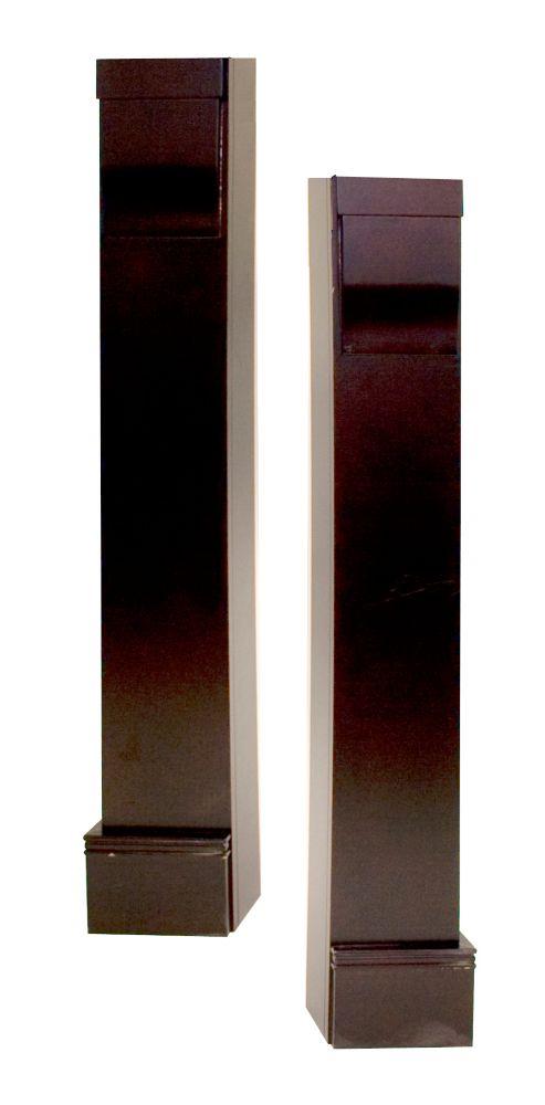 Laurentian Mantel Legs CARB compliant MDF, Espresso - Set of 2